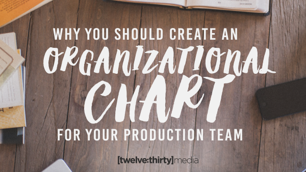 Why You Should Create an Organizational Chart for Your Production Team