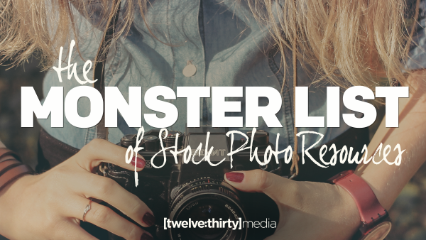 The MONSTER LIST of Stock Photo Resources