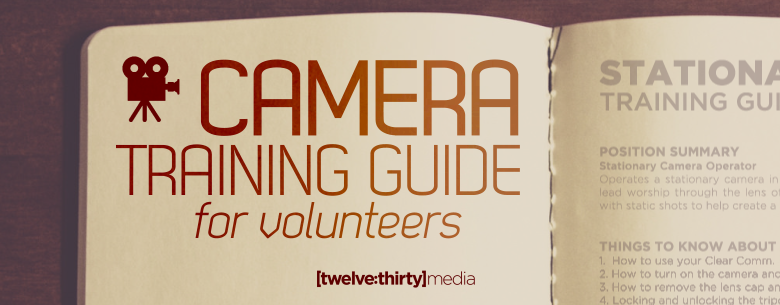 CAMERA TRAINING GUIDE. In Page Image