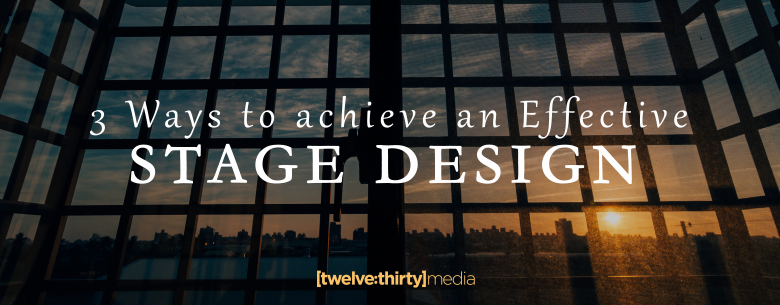 3 WAYS TO ACHIVE STAGE DESIGN. In Page Image