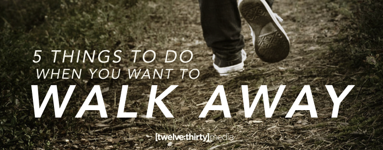 5 THINGS WALK AWAY. In Page Image