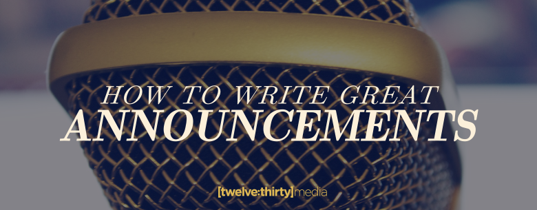 how to write great announcements