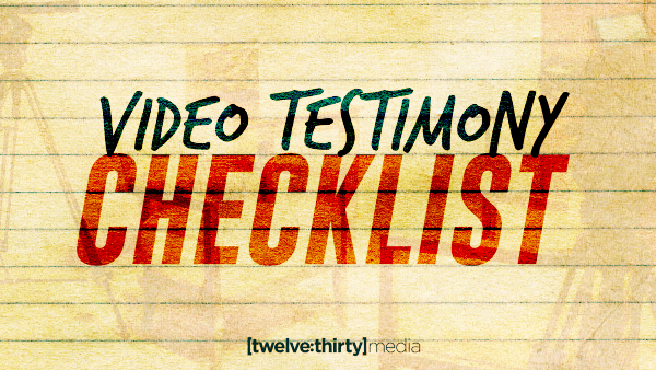 Video Testimony Checklist