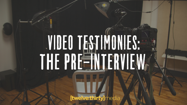 Video Testimonies: The Pre-Interview