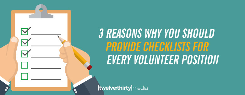 Checklists for Every Volunteer Position