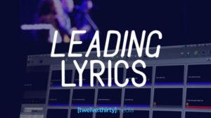 leading lyrics