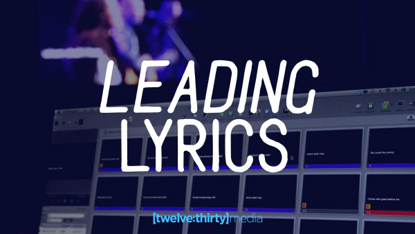 leading lyrics